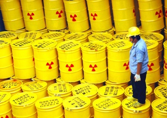 Basura nuclear almacenada