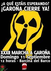 El 11 de septiembre XXXII marcha a Garoña