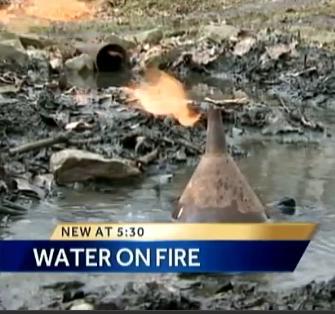 Agua ardiendo Fayette County Pensilvania