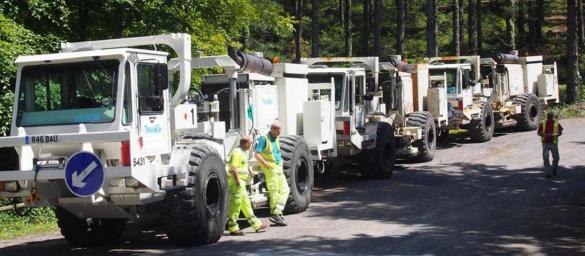 camiones sismica fracking