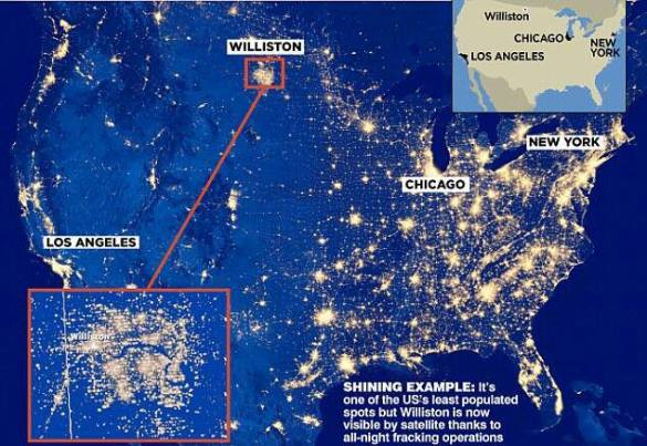 Contaminacion luminica en Willinston