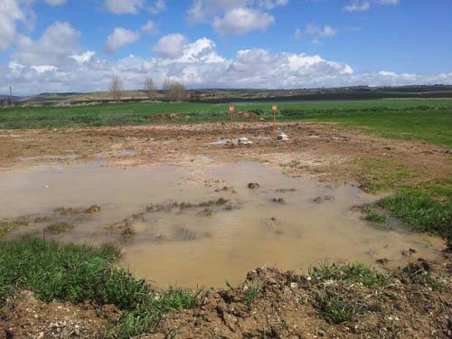 Terrenos inundados donde quieren hacer el ATC de Cuenca